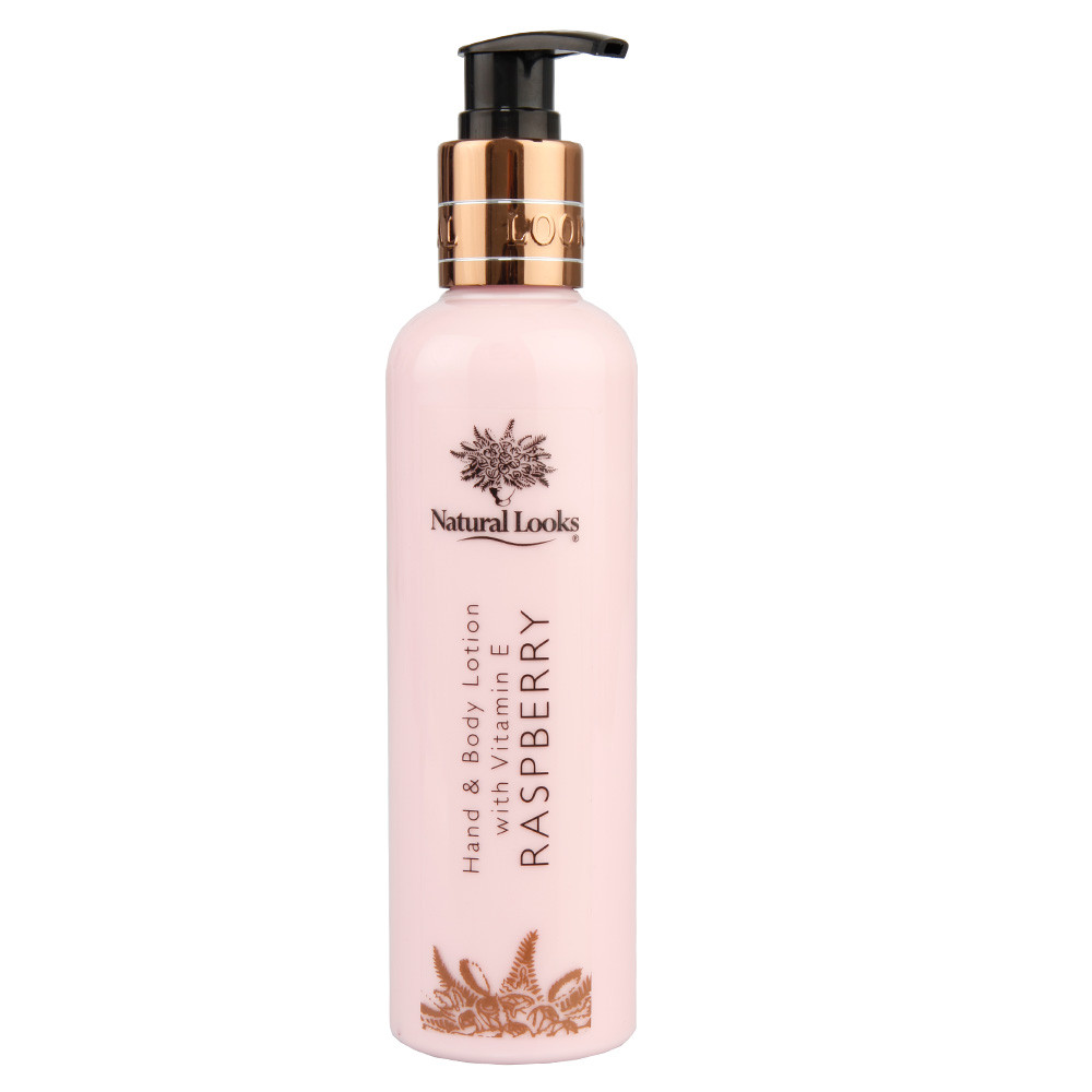 NATURAL LOOKS - RASPBERRY HAND & BODY LOTION WITH VITAMIN E 250ML