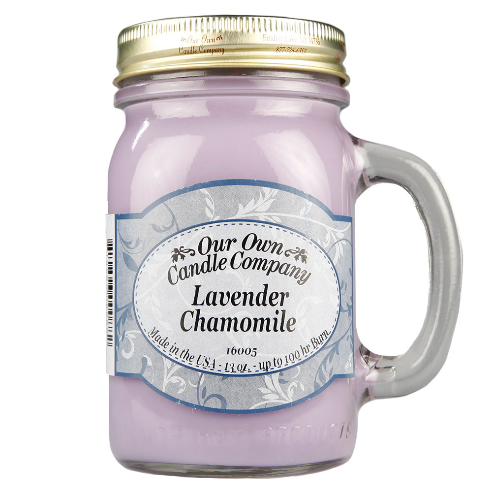 NATURAL LOOKS - Lavender Chamomile Mason (SCENTED CANDLE)