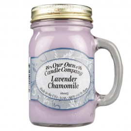 image of NATURAL LOOKS - Lavender Chamomile Mason (SCENTED CANDLE)