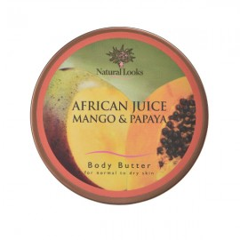 image of NATURAL LOOKS -  African Juice Body Butter 220ml - MANGO & PAPAYA