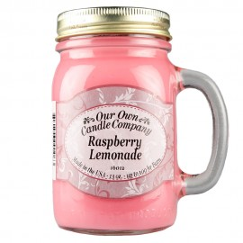 image of NATURAL LOOKS - Raspberry Lemonade Mason (SCENTED CANDLE)