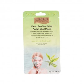 "image of NATURAL LOOKS - Albatros Soothing Facial Mud Mask with ""Aloe Vera & Tea Tree Oil "" 50g"