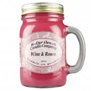 image of NATURAL LOOKS - Wine & Roses Mason (SCENTED CANDLE)