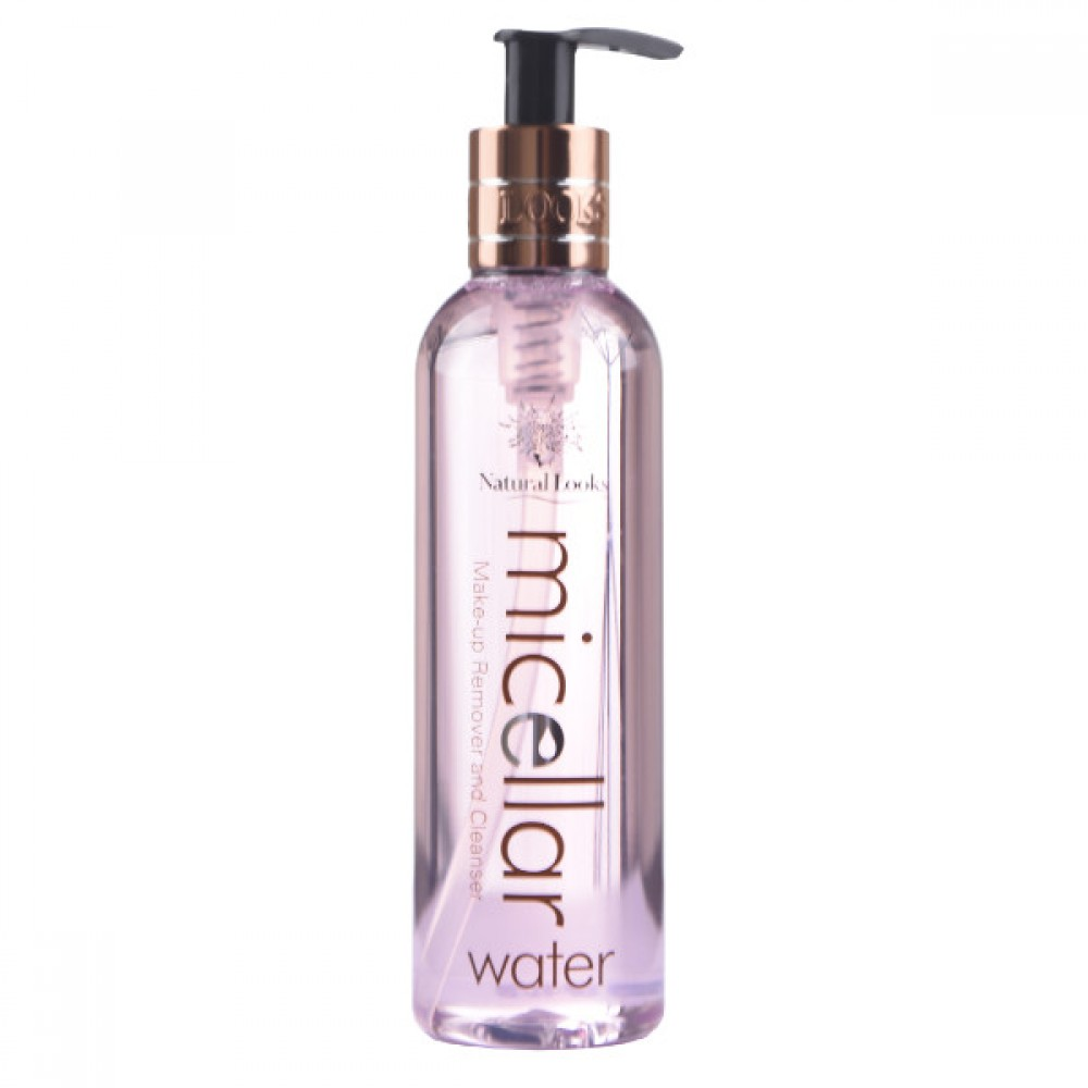 NATURAL LOOKS - MICELLAR WATER MAKE-UP REMOVER & CLEANSER 250ML