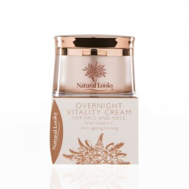 image of NATURAL LOOKS - OVERNIGHT VITALITY CREAM FOR (FACE & NECK) 50GM