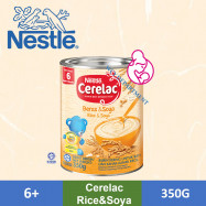 image of Nestle Cerelac Infant Cereal Tin - Rice Soya (350g) 5.0