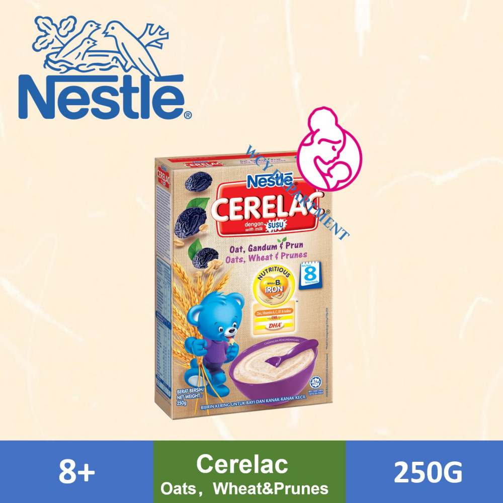 Nestle Cerelac Infant Cereal Box - Oats Wheat Prunes (250g)