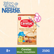 image of Nestle Cerelac Infant Cereals With Milk Wheat + Honey + Dates (250g)