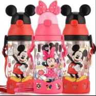 image of Disney mickey minnie water straw bottle 500ml #Ready stock