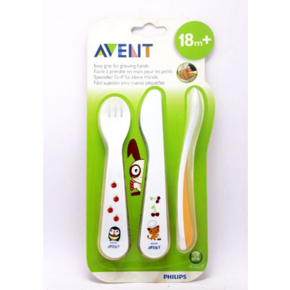 Philips AVENT Toddler Fork and Spoon for 18m+