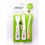 image of Philips AVENT Toddler Fork and Spoon for 18m+