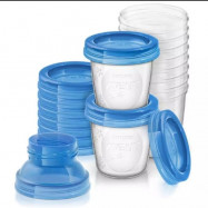 image of Philips Avent breast milk storage /Food Storage Cups 180ml SCF618/10 (10cups)