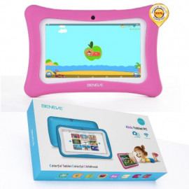 image of BENEVE 7 Inch Android Dual Camera Gift For Baby Kids tablet L0
