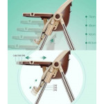 Multifunctional foldable baby dinning high chair