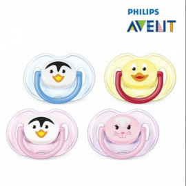 image of Philips Avent Soother Animal Range (0-6month) Twin pack
