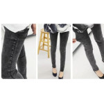 EZBM maternity jeans long pants(black)