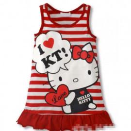 image of Ezbm kids kitty dress /kids wear