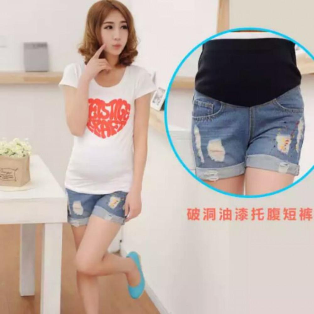 EZBM Mummy maternity jeans short