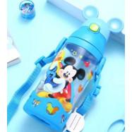 image of Disney mickey minnie water straw  bottle 500ml #Ready stock