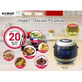 image of Khind Multi Cooker MC50D with ceramic coated inner pot