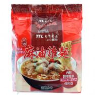 image of 台酒紅標米酒麻油雞麵(3包入)