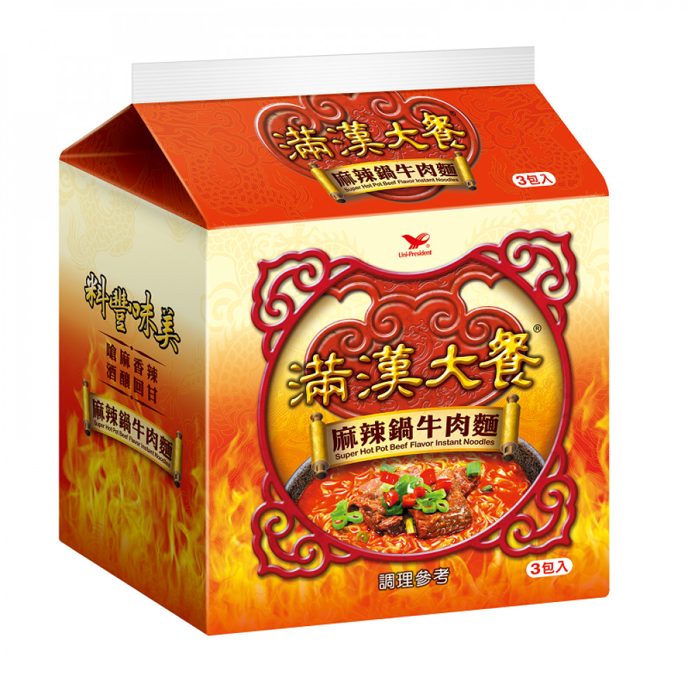 滿漢大餐麻辣鍋牛肉麵(袋)200g Man Han Restaurant Spicy Pot Beef Noodle (Pack) 200g