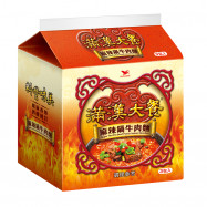 image of 滿漢大餐麻辣鍋牛肉麵(袋)200g Man Han Restaurant Spicy Pot Beef Noodle (Pack) 200g