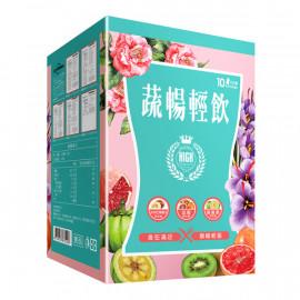 image of 蔬暢輕飲10包/盒 【康是美】Vegetable smooth drink 10 packs / box