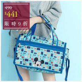 image of 天藍小舖-迪士尼探索童趣米奇輕旅系列小款旅行袋-單1款【A13130075】