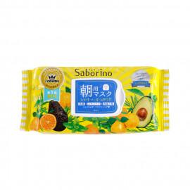 image of 日本 BCL Saborino 早安面膜 黃色保濕型-32入