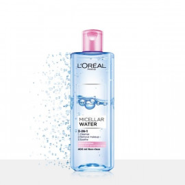image of LOREAL 巴黎萊雅 三合一卸妝潔顏水(保濕型) 400ml LOREAL MICELLAR WATER MOISTURIZING (PINK) MAKEUP REMOVER 400ml