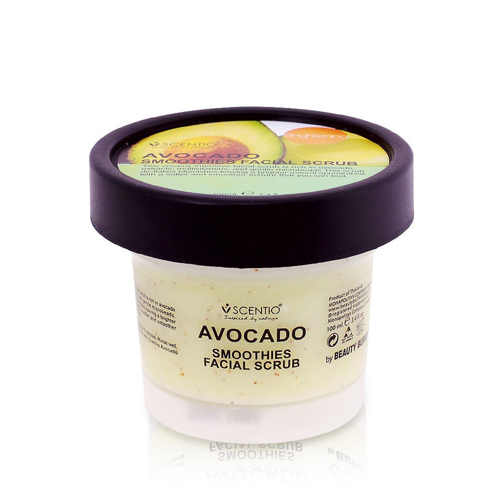 image of 泰國 SCENTIO 奶油酪梨臉部去角質優格100ml Thailand Scentio Avocado Brightening Smoothies Facial 100ml
