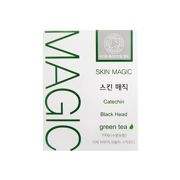 image of 韓國 Skin Magic 奇蹟粉刺皂 綠茶(保濕肌)100g Korea Skin Magic Catechin Black head Green Tea 100g