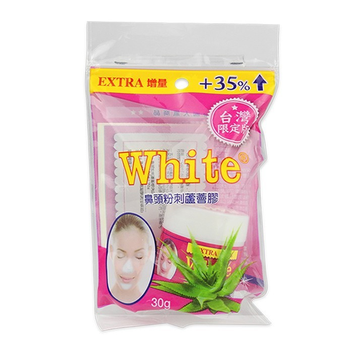 image of 泰國 White 鼻頭粉刺蘆薈膠附面膜紙 30g Thailand White Nose Acne Aloe Vera Gel 30g