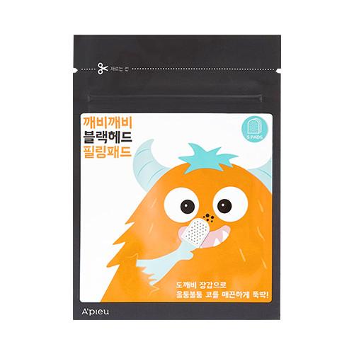 image of 韓國 Apieu 黑頭粉刺去角質清潔墊(5片/包) Korea Apieu Goblin Blackhead Peeling Pad - 1pack (5pcs)