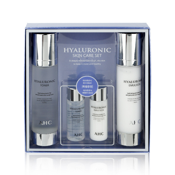 image of 韓國 AHC 玻尿酸神仙水保養四件組  Korea AHC Hyaluronic Skin Care Set