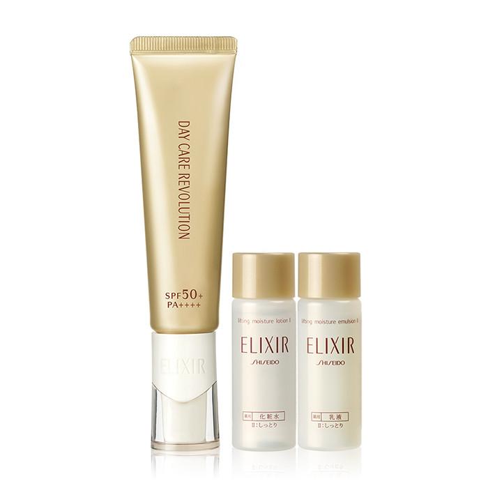 image of SHISEIDO 資生堂 怡麗絲爾 多效膠原美肌乳86獨家特惠組(35ml+18ml+18ml)   SHISEIDO Elixir superior enriquecido Arrugas Crema Skin Care Set (35ml+18ml+18ml)