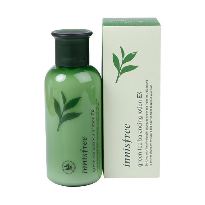 image of 韓國 innisfree 清新綠茶香氛乳液(平衡) 160ml (2018新包裝)   Korea Innisfree Green Tea Balancing Lotion EX 160ml (2018 NEW Pack)