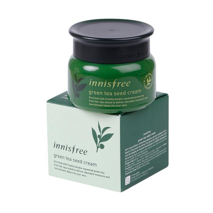 image of 韓國 innisfree 綠茶籽精粹保濕乳霜 50ml (2018新包裝)  Korea Innisfree Green Tea Seed Cream 50ml (2018 New Pack)