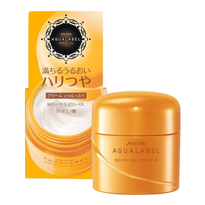 image of AQUALABEL 水之印 胺基酸彈潤乳霜 50g   [SHISEIDO AQUALABEL] Bouncing Cream III Anti-Aging Firming Face Moisturizer 50g
