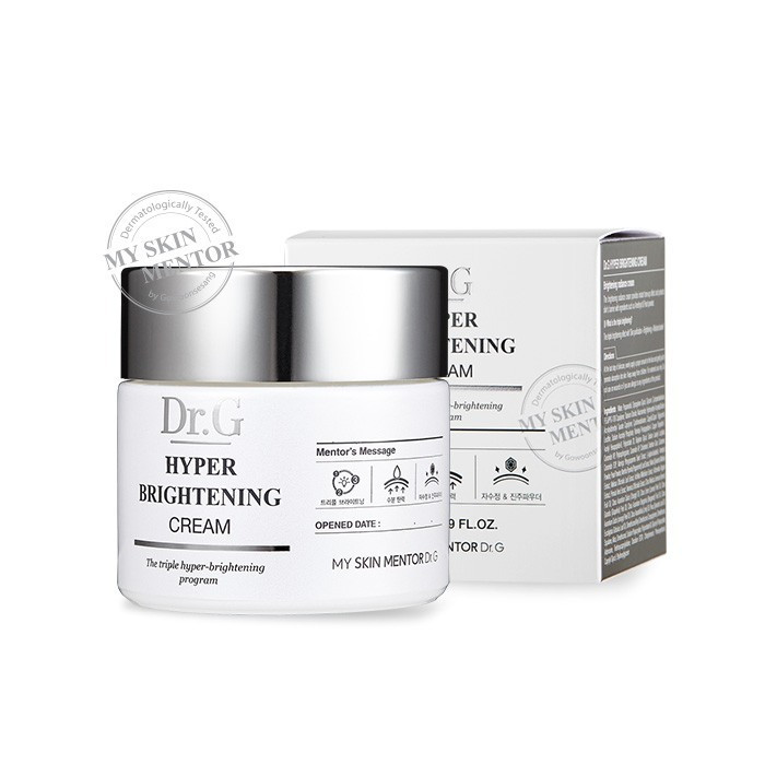 image of 韓國Dr.G α-紅沒藥出水平滑淨白光素顏霜 50ml  Korea [Dr.G] Hyper Brightening Cream 50ml