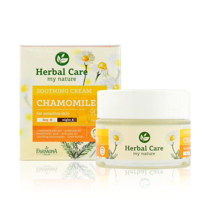 image of 歐洲 Herbal Care 洋甘菊臉部舒緩滑嫩霜 50mL #.敏弱肌適用  Europe Herbal Care CHAMOMILE SOOTHING CREAM 50ml