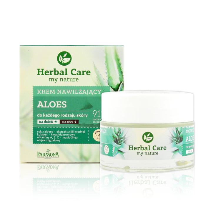 image of 歐洲 Herbal Care 蘆薈臉部保濕柔潤霜 50mL #.所有膚質適用  Europe Herbal Care My Nature Moisturising Aloe Face Cream 50ml