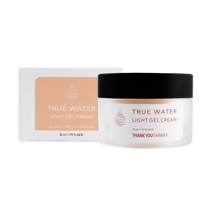 image of 韓國 Thank you Farmer 純淨絲滑清爽保濕面霜 50mL   Korea Thank You Farmer, True Water, Light Gel Cream, All Skin Types, 1.75 fl oz (50 ml)
