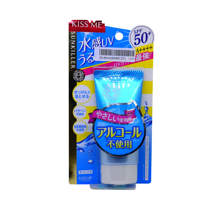 image of KISS ME 奇士美 Sunkiller 防曬水乳液 SPF50+ PA++++ 50g #.清透水感型(升級版) Kiss Me Japan Sunkiller Perfect Water Essence Sunscreen Gel SPF50+ PA++++