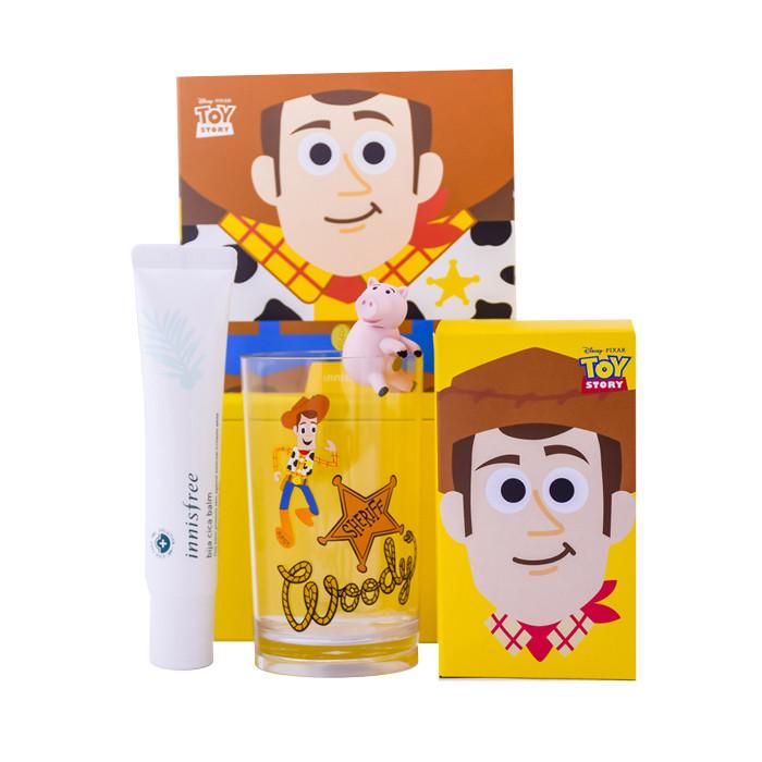image of 韓國innisfree xToystory 玩具總動員香榧調理修護霜(胡迪鐵盒組) 40ml   Korea innisfree xToystory Bija cica balm box (Woody) 40ml