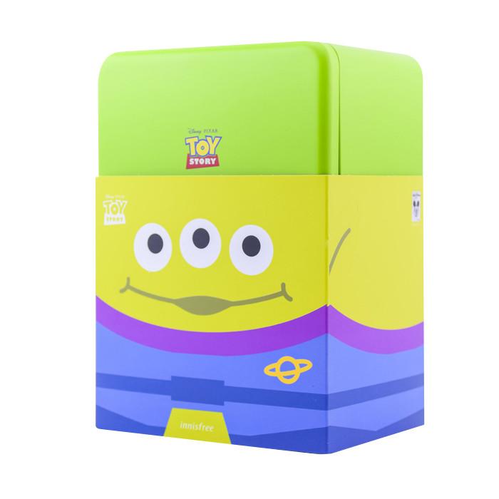 image of 韓國innisfree xToystory 玩具總動員綠茶籽保濕精華(三眼怪鐵盒組) 80ml    Korea Innisfree x Toy Story Alien Toy Box Set Green Tea Seed Serum Cup Hamm 80ml