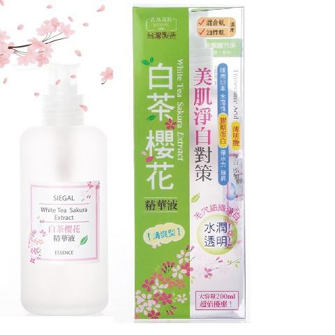 image of 台灣 Siegal 思高 白茶櫻花精華液 200mL (清爽型)   Taiwan Siegal Beauty White Tea Sakura Extract Essence 200ml
