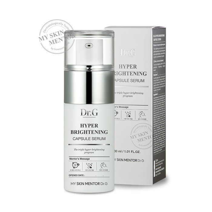 image of 韓國Dr.G α-紅沒藥淨白膠囊精華液 30ml         Korea Dr.G Hyper Brightening Capsule Serum 30ml