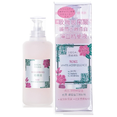 image of Siegal 思高 玫瑰玻尿酸淨白精華液 200mL        Siegal Beauty Rose White Moist Essence 200mL